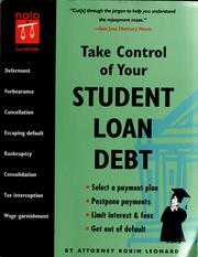 Cover of: Take control of your student loan debt