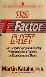 Cover of: The T-factor diet