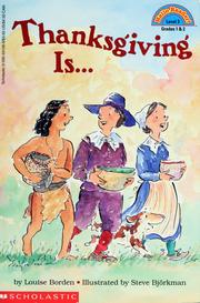 Cover of: Thanksgiving is--