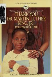 Cover of: Thank you, Dr. Martin Luther King, Jr!