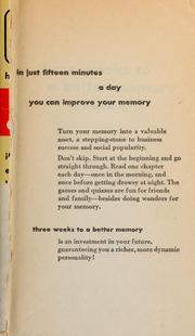 Cover of: Three weeks to a better memory