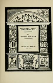 Cover of: Tolerance