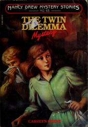 Cover of: The twin dilemma mystery