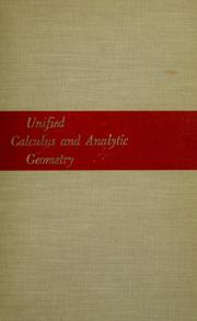 Cover of: Unified calculus and analytic geometry.