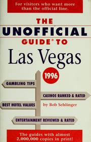 Cover of: The unofficial guide to Las Vegas