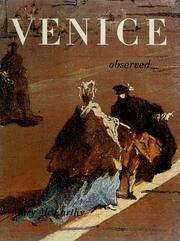 Cover of: Venice observed