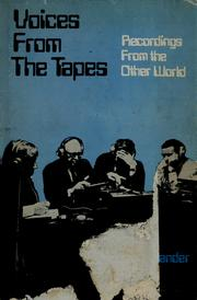 Cover of: Voices from the tapes: recordings from the other world