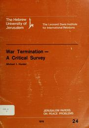 Cover of: War termination, a critical survey