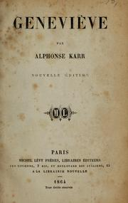 Cover of: Geneviève.