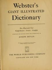 Cover of: Webster's Giant illustrated dictionary, new