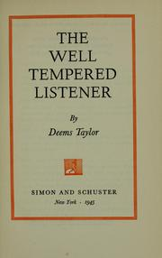 Cover of: The well tempered listener