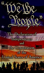 "Cover of: ""We the people"": the Declaration of Independence and the Constitution of the United States of America."