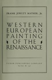 Cover of: Western European painting of the renaissance