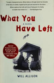 Cover of: What you have left: a novel