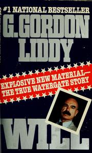 Cover of: Will: the autobiography of G. Gordon Liddy.