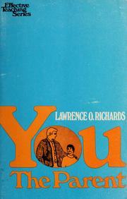 Cover of: You, the parent