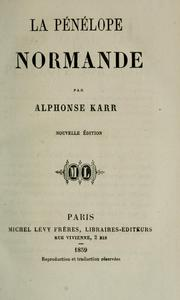 Cover of: La Pénélope normande.