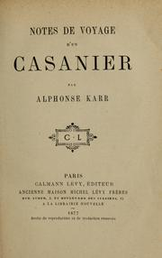 Cover of: Notes de voyage d'un casanier.