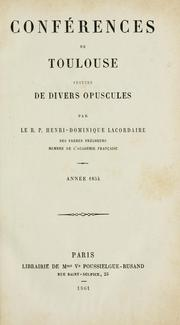 Cover of: Oeuvres du R. P. Henri-Dominique Lacordaire