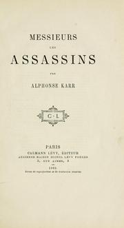 Cover of: Messieurs les assassins.