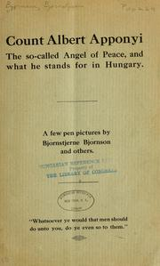 Cover of: Count Albert Apponyi