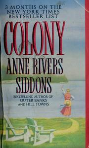 Cover of: Colony