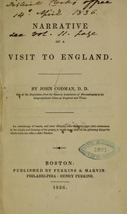 Cover of: A narrative of a visit to England