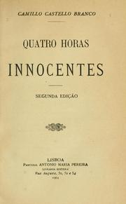 Cover of: Quatro horas innocentes