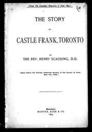 Cover of: The story of Castle Frank, Toronto