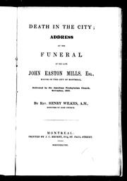 Cover of: Death in the city