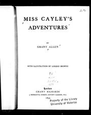 Cover of: Miss Cayley's adventures