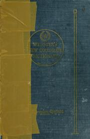 Cover of: Thin paper Webster's new collegiate dictionary: based on Webster's new international dictionary