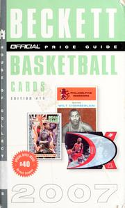 Cover of: The official 2007 price guide to basketball cards