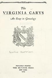 Cover of: The Virginia Carys