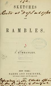 Cover of: Sketches and rambles