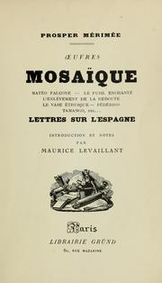 Cover of: Mosaïque