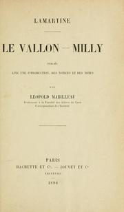 Cover of: Le Vallon-Milly