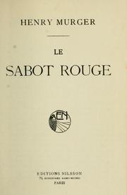 Cover of: Le sabot rouge.