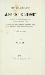 Cover of: Oeuvres complètes de Alfred de Musset