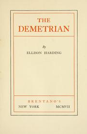 Cover of: The Demetrian