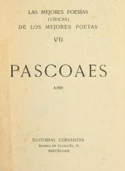 Cover of: Pascoaes.