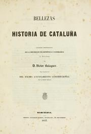 Cover of: Bellezas de la historia de Cataluña.