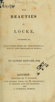 Cover Of The Beauties Locke Consisting Selections From His Philosophical Moral