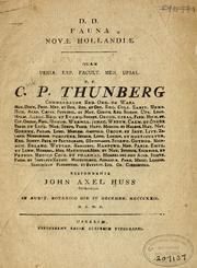 Cover of: Fauna Novæ Hollandiæ ..