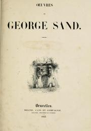 Cover of: Oeuvres de George Sand