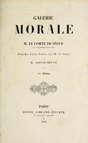 Cover of: Galerie morale