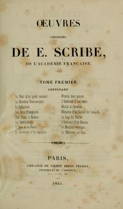 Cover of: Oeuvres choisies de E. Scribe