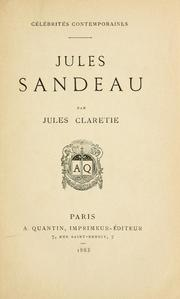 Cover of: Jules Sandeau.
