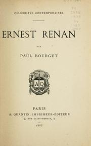 Cover of: Ernest Renan