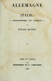 Cover of: Allemagne et Italie